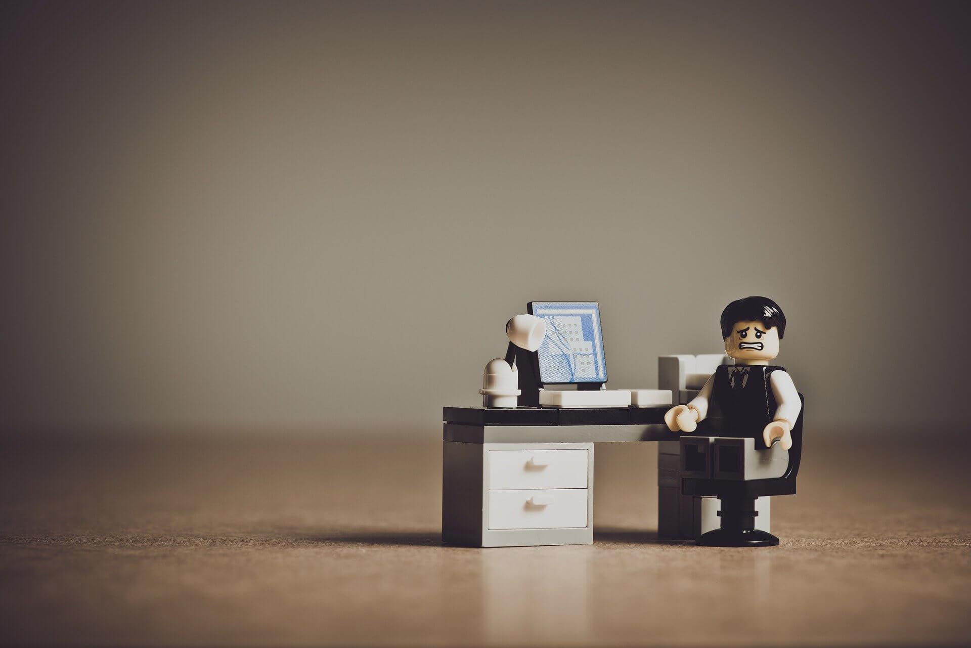 Ein verzweifelter LEGO Kaufmann